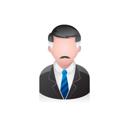 old man portrait: Businessman avatar icon in colors.