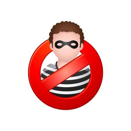 Burglar avatar icon in colors.
