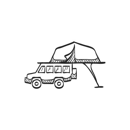 Portable C&ing Tent Icon In Doodle Sketch Lines. Shelter Vacation.. Royalty Free Cliparts Vectors And Stock Illustration. Image 72742854.  sc 1 st  123RF Stock Photos & Portable Camping Tent Icon In Doodle Sketch Lines. Shelter ...