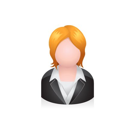 Business woman avatar icon in colors.