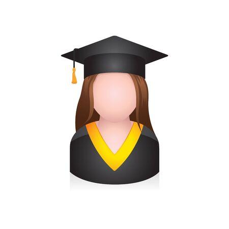 Graduate student avatar icon in colors.