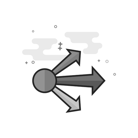 Propagate arrows icon in flat outlined grayscale style Vector illustration.