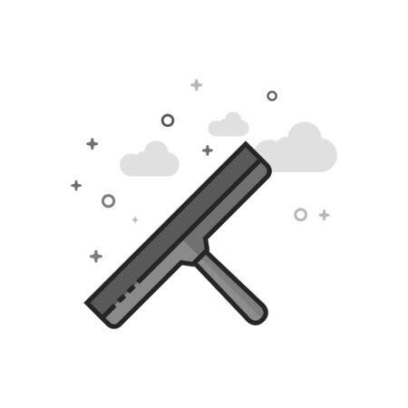Glass scraper icon in flat outlined grayscale style Vector illustration.