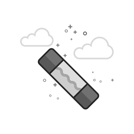Electric fuse icon in flat outlined grayscale style Vector illustration.