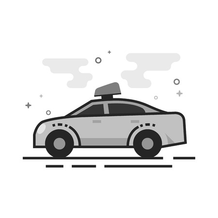 Safety car icon in flat outlined grayscale style. Vector illustration. Illustration