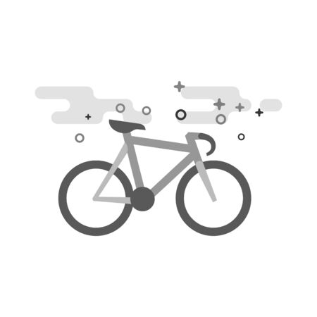 Track bike icon in flat outlined grayscale style. Vector illustration. Stock Illustratie
