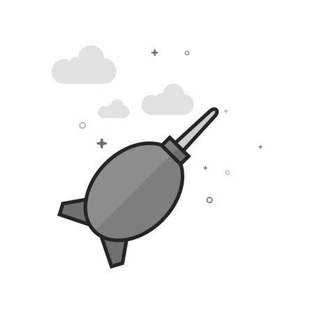 Blower icon in flat outlined grayscale style. Vector illustration. Illustration
