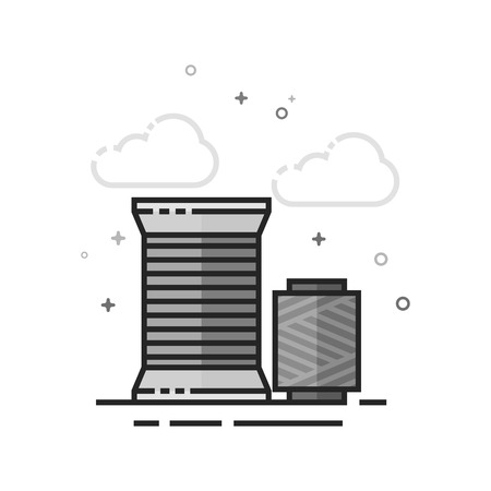 Yarn icon in flat outlined grayscale style. Vector illustration.
