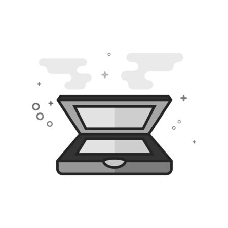 Scanner icon in flat style color. Vector illustration.