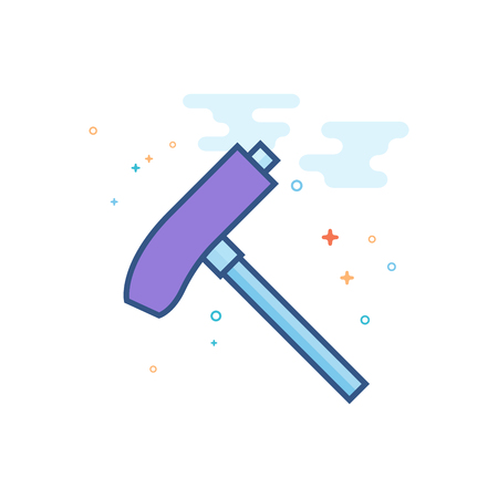 Allen key icon in outlined flat color style. Vector illustration.