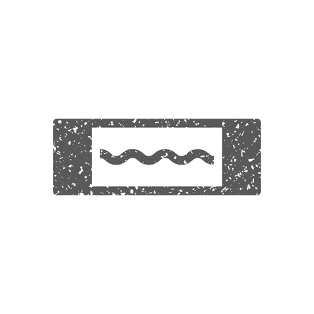 Electric fuse icon in grunge texture. Vintage style vector illustration.