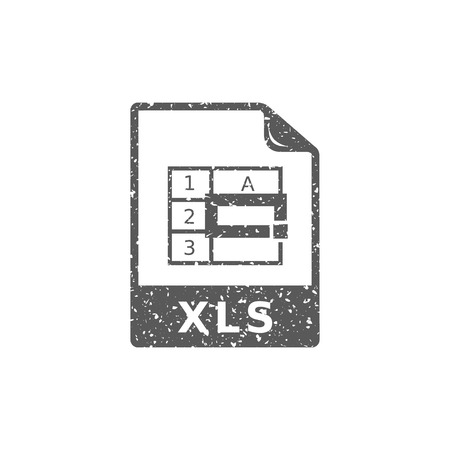 Spreadsheet file icon in grunge texture. Vintage style vector illustration. Фото со стока - 112378224