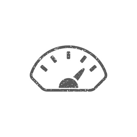 Dashboard icon in grunge texture. Vintage style vector illustration. Stock Illustratie