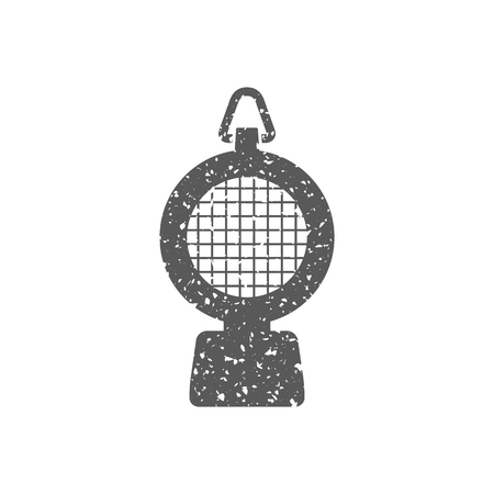 Hazard light icon in grunge texture. Vintage style vector illustration. Illustration