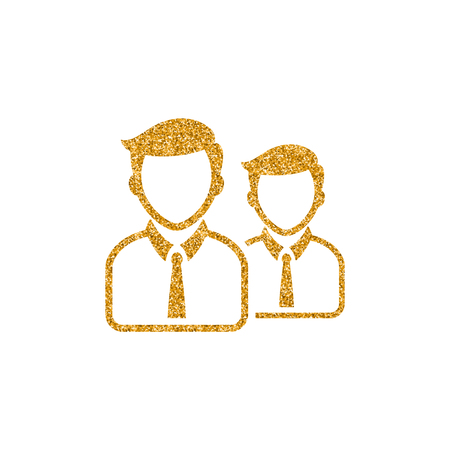 Businessman icon in gold glitter texture. Sparkle luxury style vector illustration. Zdjęcie Seryjne - 112274160