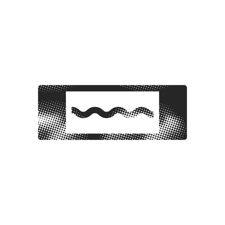 Electric fuse icon in halftone style. Black and white monochrome vector illustration.