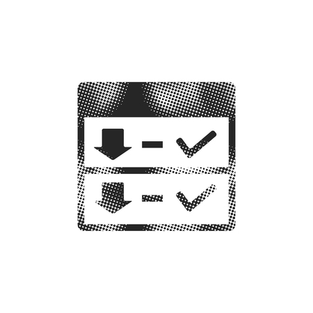 Download interface icon in halftone style. Black and white monochrome vector illustration. Ilustrace