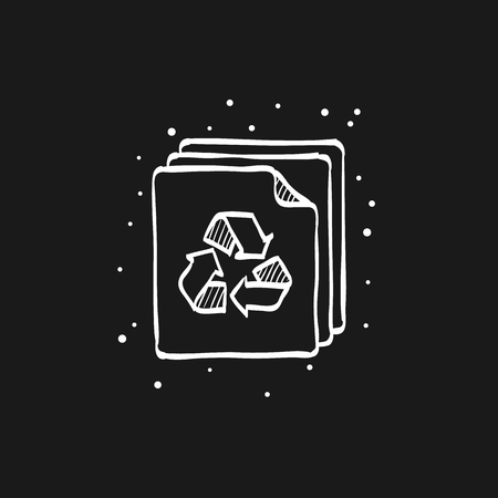 Recycle symbol icon in doodle sketch lines. Environment go green Banque d'images - 112181891