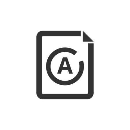 Exam result icon in thick outline style. Black and white monochrome vector illustration. Illustration
