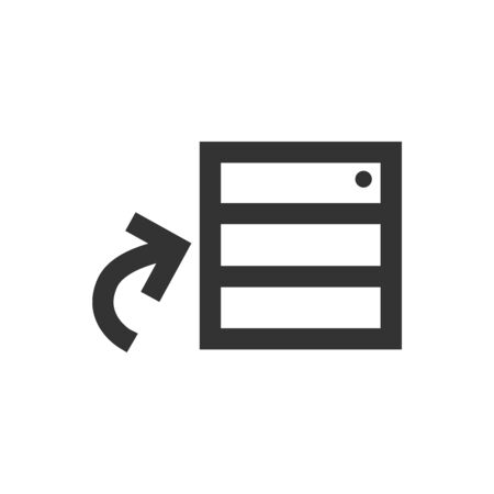 Database icon in thick outline style. Black and white monochrome vector illustration.