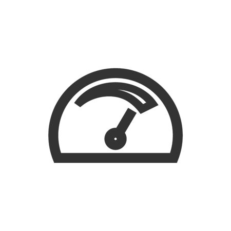 Dashboard icon in thick outline style. Black and white monochrome vector illustration. Stock Illustratie