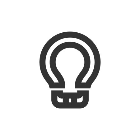 Bicycle spoke tensioning tool icon in thick outline style. Black and white monochrome vector illustration.