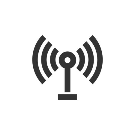 Podcast icon in thick outline style. Black and white monochrome vector illustration. Ilustração