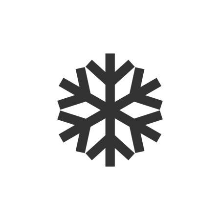 Icône de flocons de neige dans le style de contour épais. Illustration vectorielle monochrome noir et blanc.