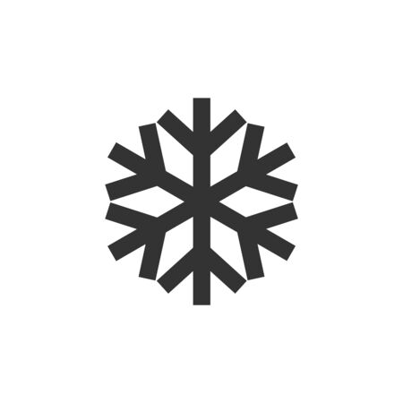 Snowflakes icon in thick outline style. Black and white monochrome vector illustration.