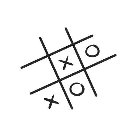 Strategy game icon in black and white. Vector illustration.