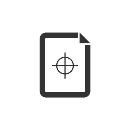 Quality control icon in thick outline style. Black and white monochrome vector illustration. Ilustração