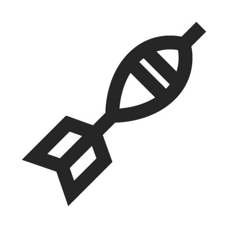 Mortar missile icon in thick outline style. Black and white monochrome vector illustration.