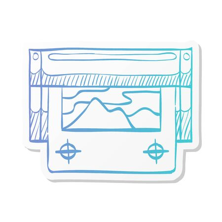 Printing proof icon in sticker color style. Print shop service publisher desktop publishing