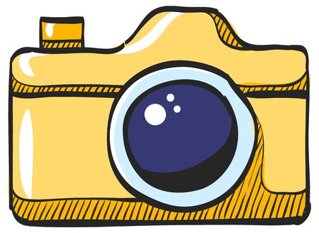 Camera repair icon in color drawing. Photography picture electronic imaging maintenance Illustration