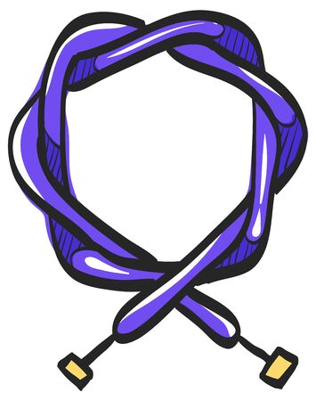 Bicycle cable icon in color drawing. Parts repair maintenance transportation sport