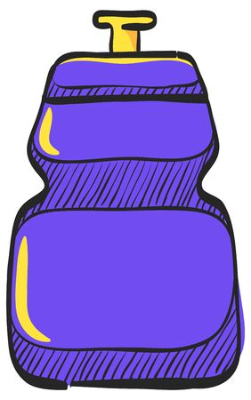 Cycling water bottle icon in color drawing. Sport ride bicycle race tour drink refresh hydrate