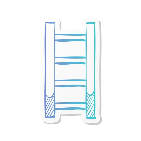 Ladder icon in sticker color style.  イラスト・ベクター素材