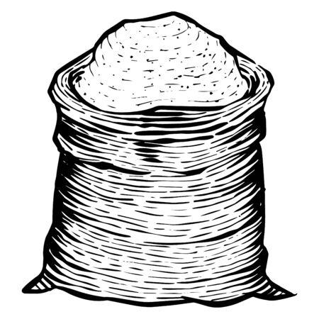 Sack of grain icon in sketch style. Illusztráció