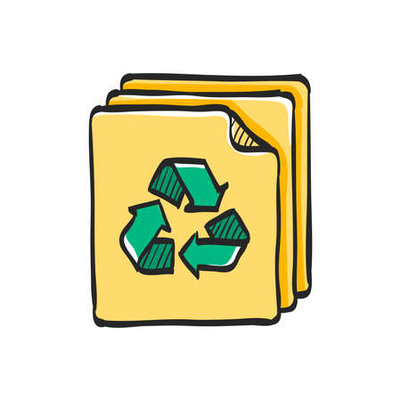 Recycle symbol icon in color drawing. Environment go green