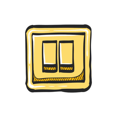 Electric switch icon in color drawing. Illustration