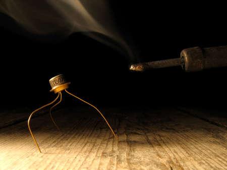 transistor: Transistor et fer � souder