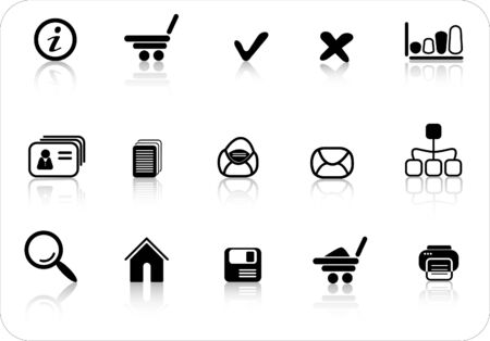 Miscellaneous raster web icons. Vector version is available in my portfolio Zdjęcie Seryjne - 2905077