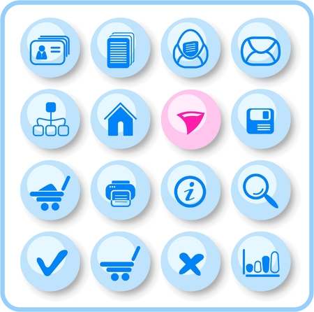 Miscellaneous raster web icons. Vector version is available in my portfolio Vector