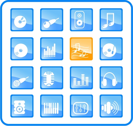 equaliser: Music and audio raster icons. Vector version is available in my portfolio