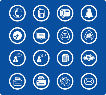 miscellaneous: Miscellaneous office and communication raster icons. Vector version is available in my portfolio Illustration