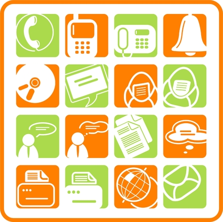 Miscellaneous office and communication raster icons. Vector version is available in my portfolio Zdjęcie Seryjne - 2905043