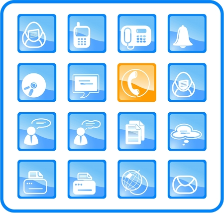 Miscellaneous office and communication raster icons. Vector version is available in my portfolio Stock Vector - 2905020