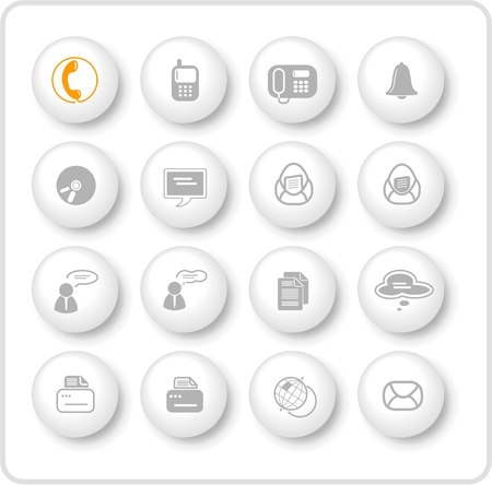 Miscellaneous office and communication raster icons. Vector version is available in my portfolio Zdjęcie Seryjne - 2905041
