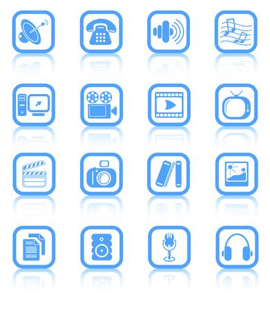 Miscellaneous multimedia raster icons. Vector version is available in my portfolio Zdjęcie Seryjne - 3024503