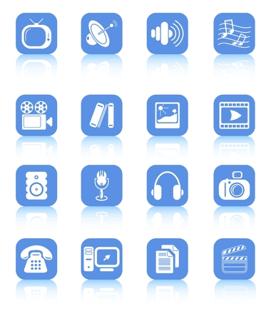 television aerial: Miscellaneous multimedia raster icons. Vector version is available in my portfolio